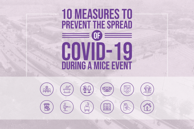 10 Measures to prevent the spread of COVID-19 during a MICE event